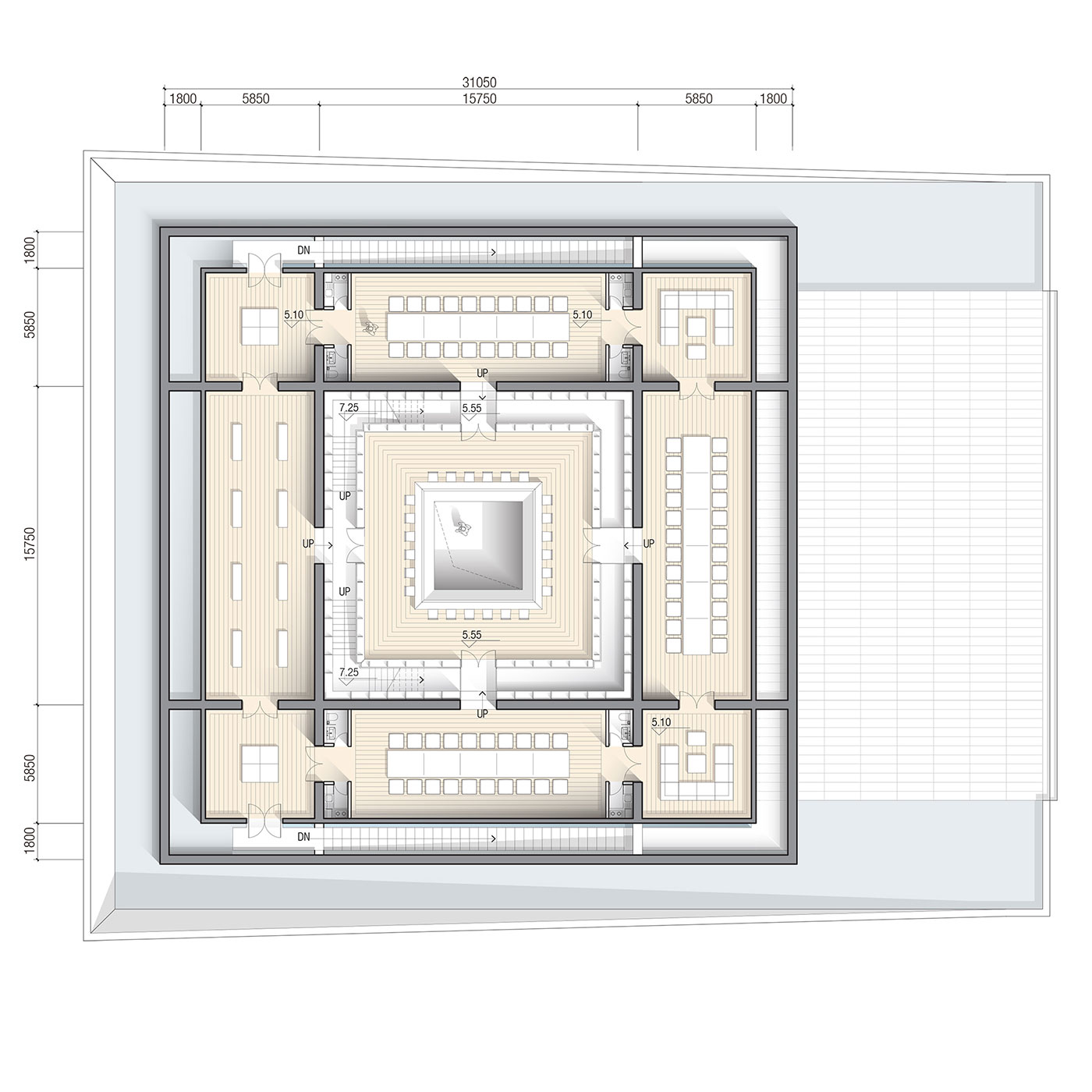 xuran lama temple and library jkp second floor plan